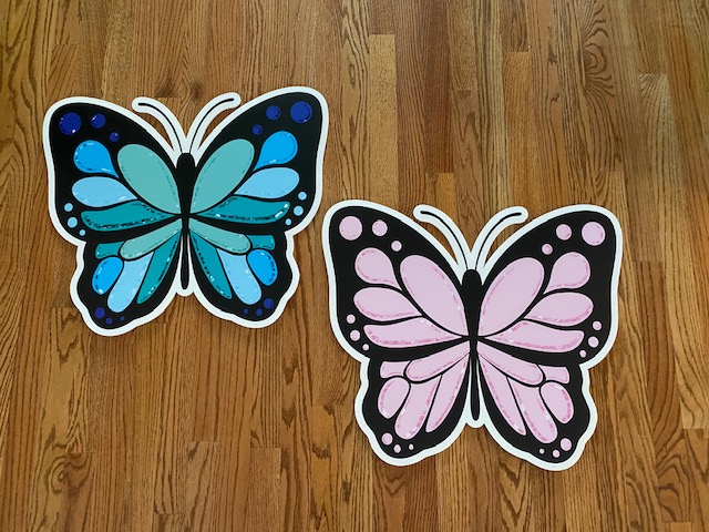 Butterfly Blue pink